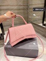 رملية حقيبة 27 سنتيمتر الكلاسيكية حمل شرفة جلد محفظة المرأة الأزياء الصلبة اللون الفاخرة مصمم حقائب واحدة حقائب الكتف مربع التعبئة والتغليف