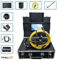 Cameras CCTV Camera Pipe Sewer Inspection Endoscope System With 7inch LCD Monitor 23mm Waterproof Lens