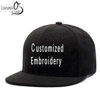 Berretti a sfera Lanmaocat ricamo ricamo hip hop cap personalizzato logo 3d logo ricamato snapback day uomini donne cappello personalizzato