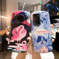 Симпатичные Flamingo Soft TPU Телефон Чехол для Huawei P40 Pro Чехол P30 Приятель 20PRO 30 NOVA 5 6 7 Честь Mate Matte Мультфильм Банановый Крышка Листьев