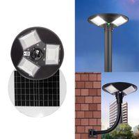 مصابيح الشوارع الشمسية 300W 600W UFO مصباح واسعة الملاك الإضاءة في الهواء الطلق الجدار مصباح البير الحركة ضوء التحكم ل حديقة ساحة