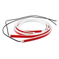Interior&External Lights 1pcs 1.2m Door Streamer Warning Light Strobe Flashing Car Open LED Strip Anti-collision