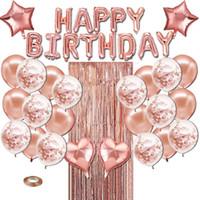 생일 축하 풍선 호일 편지 풍선 생일 파티 장식 어린이 성인 생일 풍선 알파벳 풍선 세트 0046