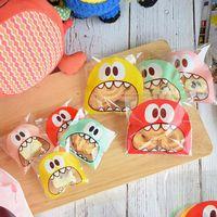 Plástico bonito dos desenhos animados presentes sacos bolinhos embalagem sacos de plástico auto-adesivo para biscoitos doces bolo de comida pacote de bebê menino