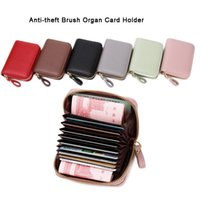 Card Holders Men's Wallet Fashion PU Leather Portable Multifunction Business Casual Zipper Purse For Storage Passport Cover Holder