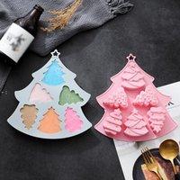 크리스마스 트리 케이크 쿠키 실리콘 금형 크리스마스 나무 모양의 초콜릿 젤리 금형 커피 디저트 DIY 금형 주방 베이킹 도구 BWF10095