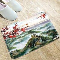 Badematten Chinesische Stil Tinte Malerei Matte Große Wand Küche Absorbierende Tür Home Decoration Produkte Rutschfeste Teppiche können gewaschen werden