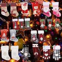 Christmas Decorations Stockings Santa Sacks Home Decor Xmas Elk Gift Bags Decoration Candy Holder Presents Snowman Doll Holiday Stocking