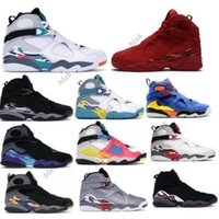 Jumpman Men Basketball Shoes 8 8s Aqua Chrome Playoffs South Beach Reflections Valentines Day Burgundy Bugs Bunny 2021 Black Tenis Trainers