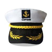 2021 패션 유럽과 미국 스타일 바다 군사 모자 화이트 외국 무역 모자 망 레트로 평면 군사 모자 할로윈 성인 캡틴 A