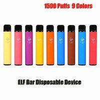 엘프 바 일회용 전자 담배 포드 디바이스 1500 퍼프 850mAh 배터리 4.8ml 미리 채워진 카트리지 vape vs 퍼프 플러스 xxl