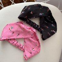 Diseñador de seda elástica mujer diademas de lujo flores de lujo flores floral bandas de pelo bufanda accesorios para el cabello regalos mejor cabeza de cabeza
