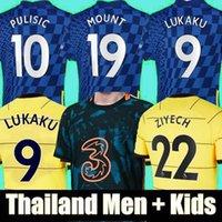 Thaïlande 21 22 Lukaku Kante Havvertz Mount Soccer Jerseys 2021 2022 Pulisic Chilwell Ziyech Werner Jerseys Camiseta de Football Hommes Kids Kids Chemise Tops Tops Uniformes