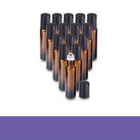 5 ml / 10ml 휴대용 앰버 유리 롤러 스테인레스 스틸 롤러 공 90 V2 롤러 볼 에센셜 오일 병