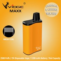 100% Authentic Vidge Maxx 2% Salt Disposable E Cigarettes Box Vape Mesh Coil Design 1200mAh Battery 9.0ml Capacity 8 Colors for Option With Certification