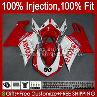 Injection Fairings For DUCATI 848 1098 1198 S R 848R 1198R Bodywork 18No.37 848S 1098S 2007 2008 2009 2010 2011 2012 1098R 1198S 07 08 09 10 11 12 OEM Body Kit Factory Red