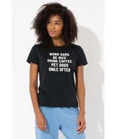 Camiseta para mujer trabajo duro mascota perros lindo divertido 100% algodón grunge tumblr estilo calle vendimia moda mujer casual cita tshirt top tee