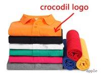 A2 alta qualidade crocodilo polo camisa homens sólido algodão shorts polo verão casual pólo homme camisetas polos poloshirt