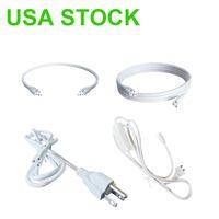Schalter Stromkabeldraht T5 / T8-Stecker Macht Kordel 2pin LED-Röhre, Verlängerungskabel für integrierte Leuchtstoffröhre Glühbirne US-Plug USA Lagerbestand
