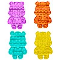 Candy Cor Bonito Bear Push Push Fidget Pads Brinquedos Bubble Poppers Board Fun Divertido Desktop Jogo De Desktop Toy Sensory HH41PDHC na venda Atacado