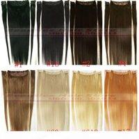 """Zzhair 16 """"-32"""" 100٪ البرازيلي ريمي الشعر مقاطع الشعر البشري في الإنسان تمديد الشعر 5PCS 100G 120G 140G 160G 180G 200G"""