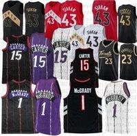 Mens Pascal 43 Siakam Vince 15 Carter College Basketball Jersey Tracy 1 McGrady genähte Trikots