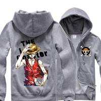 2021 새로운 애니메이션 원피스 Luffy 남자 후드 재킷 캐주얼 까마귀 Trafalgar 법 망 여성 패션 의상 코트 유니섹스 PQ7T