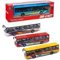 Carro de aleación de Diecast Boy 15cm Huili Bus Modelo Adornos de coches