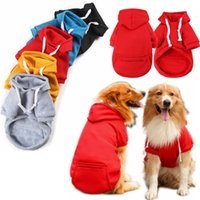 5 Color Wholesale Dogs Hoodie Sublimation Blank Dog Apparel Sweaters with Hat Cold Weather Pet Hoodies Pocket Hooded Clothes Costume Winter Hoody Warm Coat XS A124