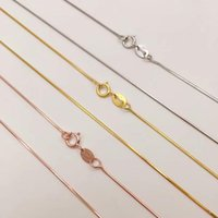 Cadenas LO Paulina Genuine 925 Sterling Silver Snake Chain for Woman 40cm / 45cm Europa Marca Collar Collar Bijoux XL210121-S5