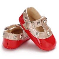 0-18M Baby Girl Shoes Rivet Bling Belt First Walkers Niño Niño Antideslizador Soft Sole Multi Color Primavera Otoño