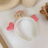 Hair Clips & Barrettes Cute Stereo Baby Bottle Bear Band Net Red Ears Wash Face Headband Accessories Female Summer