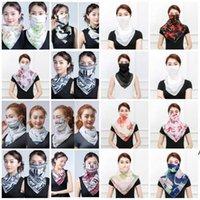Neue Frauen Schal Gesicht Maske Seide Chiffon Taschentuch Outdoor Winddicht Halbgesicht Staub Schleier Schal Party Masken LLD9768