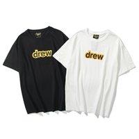 Camisetas Rosto de sorriso High Street Street Letra Simples T-shirt T-shirt de manga curta para homens e mulheres PoloShirt
