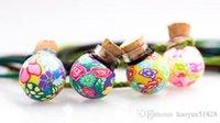 Kann Kork-Lampwork-Glas-Anhänger öffnen Aromatherapie-Anhänger-Halsketten Schmuck Parfüm-Philanzflaschen Anhänger Ätherische Öldiffusor-Halskette