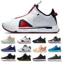 Yüksek Kalite ABD Paul George PG 4 IV PG 4 Erkek Basketbol Ayakkabı PG4 Turuncu GX Oreo Bred Ekose Eğitmenler Erkekler Spor Sneakers