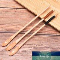 꿀 쌀 수프 디저트 커피를위한 긴 손잡이 나무 숟가락 주방기구 도구 찻 숟가락 케이터링 대나무 나무 숟가락