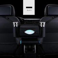Car Organizer Upgraded Advanced Net Pocket Handbag Holder PU Leather Between Seat Storage Black Stowing Tidying Case 2021