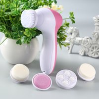 5 in 1 Electric Facial Cleanser Wash Face Cleaning Machine Pore Cleaner Body Cleansing Massage Mini Skin Beauty Massager Brush with Retail Box