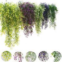 Flores artificiales Vid Ivy Hoja Seda Colgando Vid Fallo Plantas Artificiales Guirnalda Guirnalda Casa Decoración de la fiesta de boda FWD5522