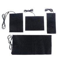 Carpets 1 4PCS USB Warm Paste Pads Fast-Heating Carbon Fiber Heating Pad Safe Warmer For Cloth Vest Jacket Shoes Socks