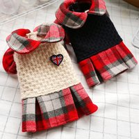 Dog Apparel Winter Plaid Cotton Pet Dresses For Small Dogs Cats Sweet Puppy Cat Skirt Yorkshire Matese Clothes Clothing Vestido De Noiva