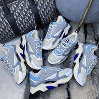 2021 Designer B22 Sneaker Scarpe in pelle di vitello in pelle bianca Top Technical Knit Donna Piattaforma Sneakers Blu Grigio Dimensioni 35-46