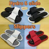 Hydro 6 Slide Mode Männer Frauen Hausschuhe Schuhe Black Wolf Grau Metallic Gold White University Red Herren Sandalen Sneakers mit Box