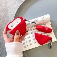 Caja linda del auricular de la forma del corazón del amor 3d para los estuches de Airpods Pro Cubierta protectora para las vainas de aire Apple 1 2 Earburd silicona con gancho