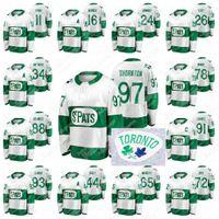 Joe Thornton Toronto Maple Leafs 2021 St. Pats Green Shallback Jersey John Tavares Mitch Marner Auston Matthews Morgan Rielly William Nylander Zach Hyman