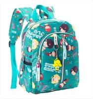الكرتون ابتسامة الفتيات الطباعة حقيبة مدرسية الاطفال خفيفة طفل الأطفال حقائب الظهر لرياض الأطفال الظهر mochila