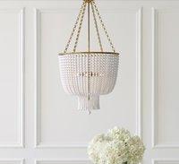 American living room chandelier Lamps simple modern dining bedroom villa Nordic creative light  crystal bead