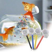Einstellbar Rund 3D Aquarium Aquarium Tank Fangennetz Edelstahl Mini Rod Fishing Outdoor Runde Tasche Shrimp Angeln Netzen