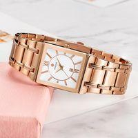 Armbanduhren Damen Uhren 2021 Wwoor Frauen Armbanduhr Top Rose Gold Quarz Mode Square Designer Uhr Geschenke